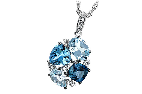 A189-65185: NECK 2.60 BLUE TOPAZ 2.70 TGW
