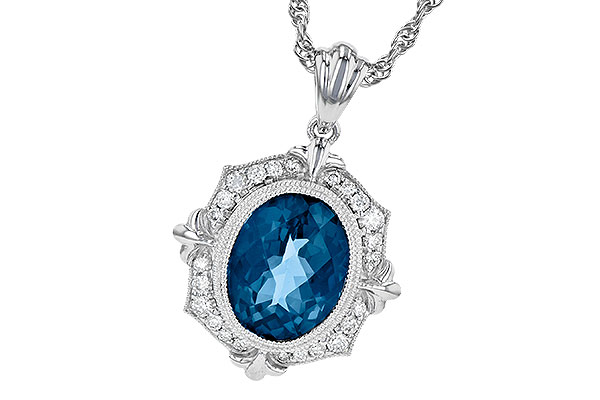 E190-62466: NECK 3.00 LONDON BLUE TOPAZ 3.16 TGW