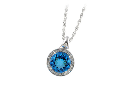 K187-85266: NECK 3.87 BLUE TOPAZ 4.01 TGW