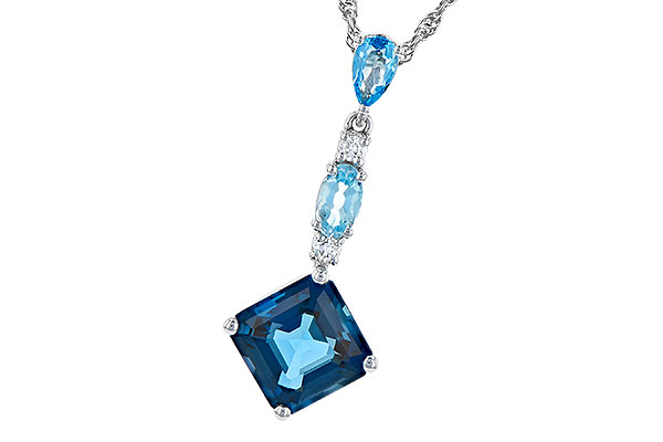 K273-30675: NECK 2.95 TW BLUE TOPAZ 3.00 TGW
