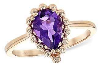 L189-67975: LDS RING 1.06 CT AMETHYST